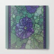 Percolated Purple Potato Flower Metal Print