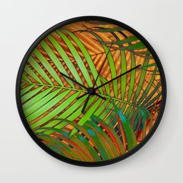 TROPICAL LEAVES POP-ART no2 Wall Clock