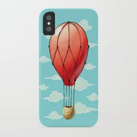 hot air balloon iPhone & iPod Cases featuring Hot Air Balloon by Freeminds