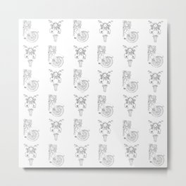 white motorcycle, pattern Metal Print