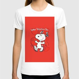 snoopy happy valentine T-shirt