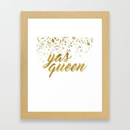 Yas Queen Framed Art Print