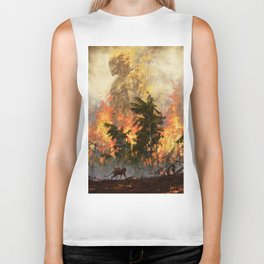 The fire demon of the rainforests Biker Tank