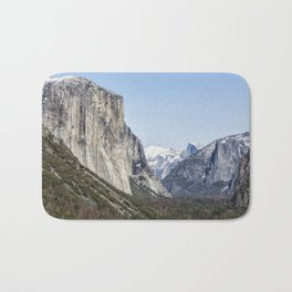 El Capitan, Half Dome and Sentinel Rock from Tunnel View Bath Mat