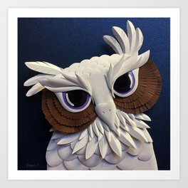 Owl of Wisdom Art Print