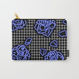 Rose Blue Neon Carry-All Pouch
