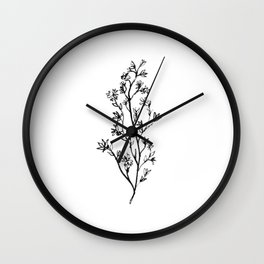 Larkspur Wildflower Wall Clock