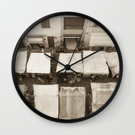 PRODOTTO ITALIANO firenze leather sellers italy Wall Clock