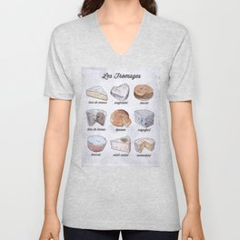 French Cheese guide Unisex V-Neck