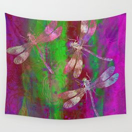 A Dragonflies QR Wall Tapestry
