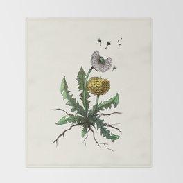 Dandelion - Taraxacum officinale Throw Blanket