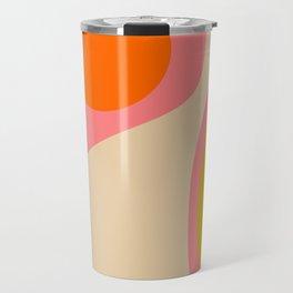 abstract composition modern blush pink Travel Mug