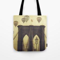 Balloons Over the Bridge Tote Bag