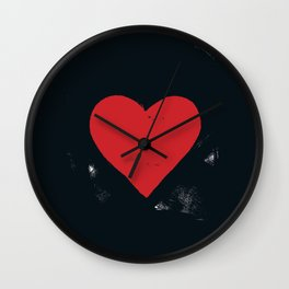 RED_HEART_ROLLER_STYLE Wall Clock
