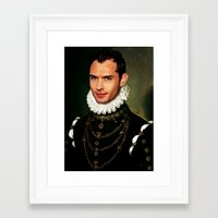 law Framed Art Prints featuring Jude Law by Kimberley Britt