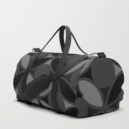Geometric Circles In Grays and Black Duffle Bag