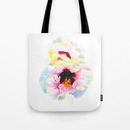 Aloalo / White Hibiscus Tote Bag