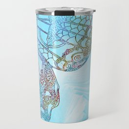 Colorful Abstract Butterfly Design Travel Mug