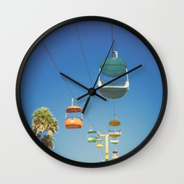 Santa Cruz Boardwalk Gondolas II Wall Clock