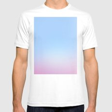 Cotton Blue Gradient Mens Fitted Tee MEDIUM White