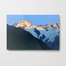 Majestic Mount Cook, New Zealand Photograph Metal Print