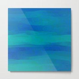Teal Blue Ocean Currents Metal Print