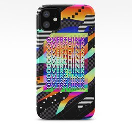 Overthink Poster iPhone Case