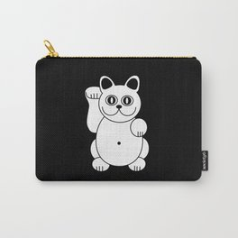 White Cat For Good Luck Carry-All Pouch