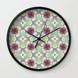 Cloud Flowers 2 Wall Clock
