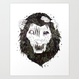 Infestation // Zombie Lion Art Print