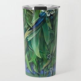 """Spring Forest of Surreal Leaf litter and flowers"" Travel Mug"