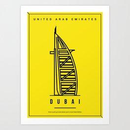Dubai Minimalist Art Art Print