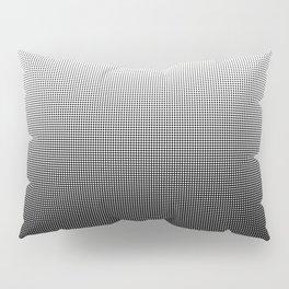 Halftone Gradient Black to White Pillow Sham