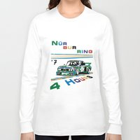1975 Long Sleeve T-shirts featuring 1975 BMW Victory at 4 Hours of Nürburgring by DailyTurismo