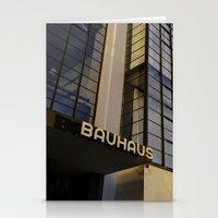 bauhaus Stationery Cards featuring Bauhaus Sunset by Nat Alonso