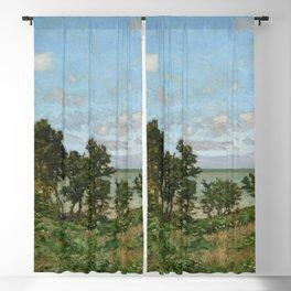Claude Monet - Coastal landscape Blackout Curtain