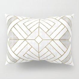 Lennox Vintage Deco - White & Gold Pillow Sham