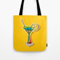 cocktail Tote Bags featuring Cocktail by Rceeh