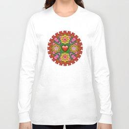 Emoji Flower Mandala Long Sleeve T-shirt