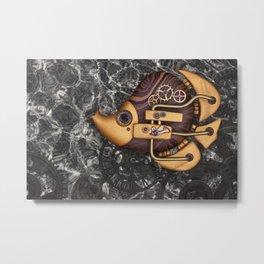 Steampunk Butterflyfish Metal Print