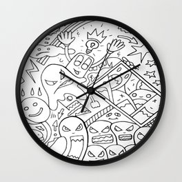 Mirror Images Of Self Reflections Wall Clock