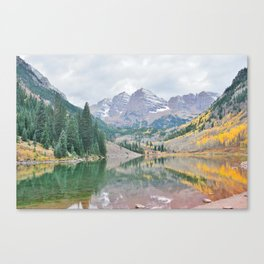 The Maroon Bells in Autumn Canvas Print