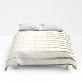 Simply Drawn Stripes Gilded Palace Gold Comforters