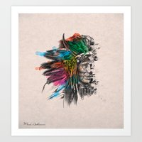 indian Art Prints featuring Indian  by mark ashkenazi