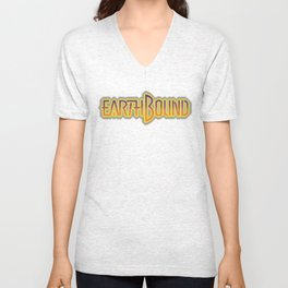 Earthbound Title Screen (Pixelated) Unisex V-Neck