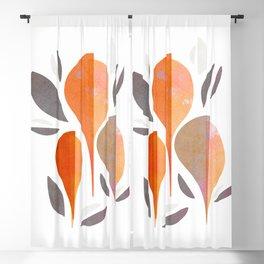 Minimal Autumnal Leaf Trio #abstractart Blackout Curtain