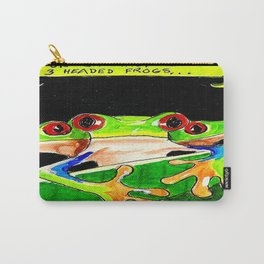 Three headed frog painting by Karen Carry-All Pouch
