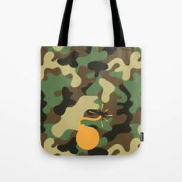 CAMO & ORANGE BOMB DIGGITY Tote Bag