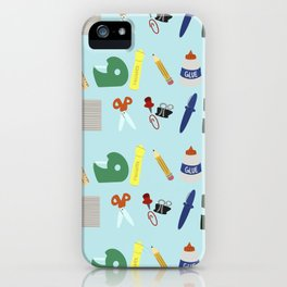 Back to School Supplies iPhone Case