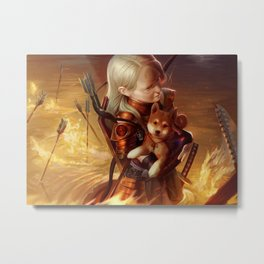 Inferno Archer Metal Print